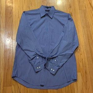 Tommy Hilfiger Blue and White Stripe Button down